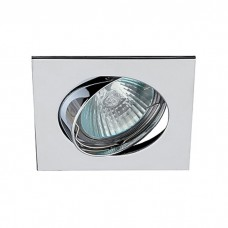 Светильник ЭРА C0043661 KL2A CH MR16 12V/220V 50W хром, квадрат, поворотный