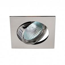 Светильник ЭРА C0043662 KL2A SN MR16 12V/220V 50W сатин никель, квадрат, поворотный