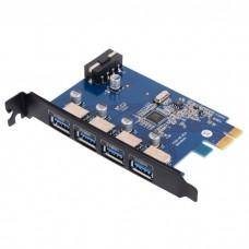 Контроллер Orico PVU3-4P PCIe to 4 port USB 3.0