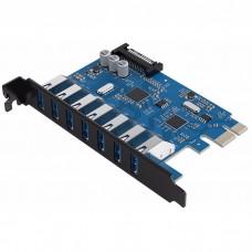 Контроллер Orico PVU3-7U PCIe to 7 port USB 3.0