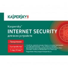 Продление антивируса Касперского Kaspersky Internet Security Multi-Device Russian Edition 3ПК 1 год Renewal Card ( KL1939ROCFR )